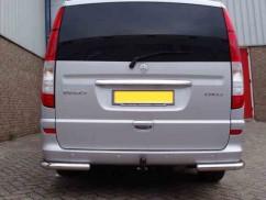 ST-Line Защита заднего бампера Mercedes Vito (2003-2014) /углы одинарные