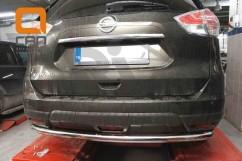 Защита заднего бампера Nissan X-trail (2014-) /ровная