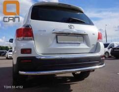 ST-Line Защита заднего бампера Toyota Highlander (2008-2014) /ровная