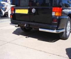 ST-Line Защита заднего бампера Volkswagen T4 (1992-2002) /углы одинарные Ø60