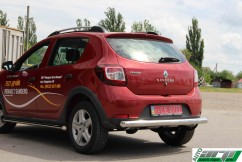 ST-Line Защита заднего бампера Dacia/Renault Sandero Stepway 2012- /ровная