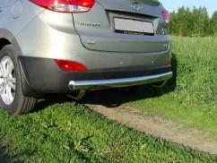 Защита заднего бампера Hyundai IX35 2010- /ровная
