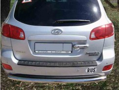 ST-Line Защита заднего бампера Hyundai Santa Fe 2006-2012 /ровная