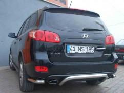 ST-Line Защита заднего бампера Hyundai Santa Fe 2007-2012 /изогнутая