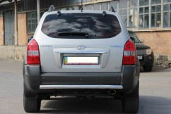 Защита заднего бампера Hyundai Tucson 2004- /ровная