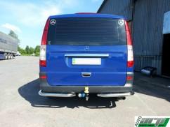 ST-Line Защита заднего бампера Mercedes Vito 2003-2014 /углы