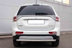 ST-Line Защита заднего бампера Mitsubishi Outlander 2012- /ровная
