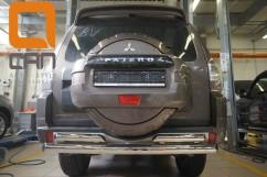Защита заднего бампера Mitsubishi Pajero Wagon (2006-) / двойная Ø76