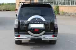 Защита заднего бампера Mitsubishi Pajero Wagon 2006- /двойн углы