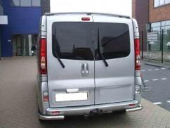 Защита заднего бампера Opel Vivaro/Renault Trafic 2001-2015 /углы