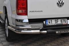 ST-Line Защита заднего бампера Volkswagen Amarok 2010- /двойн углы