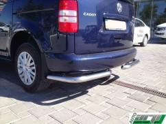 ST-Line Защита заднего бампера Volkswagen Caddy 2004-/углы