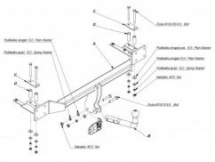 Фаркоп Chevrolet LACETTI (03-) хэтчбек