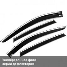 Дефлекторы окон Ford Fiesta VI Sd 2014 ХРОМ.МОЛДИНГ