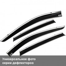 Дефлекторы окон Opel Mokka 2012 ХРОМ.МОЛДИНГ