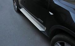 Пороги боковые (подножки) BMW X5 2007-