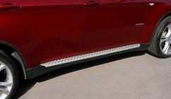 Пороги боковые (подножки) BMW X6 2008-