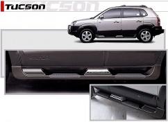 AVTM Пороги боковые (подножки) Hyundai Tucson 2004-2012 /Серые