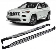 AVTM Пороги боковые (подножки) Jeep Cherokee KL 2013-