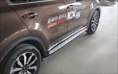 AVTM Пороги боковые (подножки) Kia Sportage 2016-