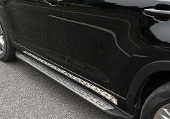 AVTM Пороги боковые (подножки) Toyota Highlander 2014-
