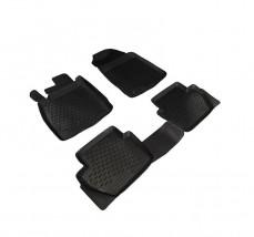 Резиновые коврики в салон Ford Fiesta 2008-, комплект 4шт