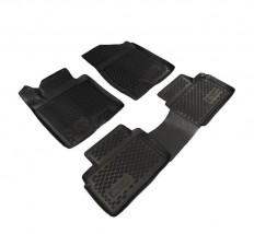 Petroplast Резиновые коврики в салон Kia Ceed 2012-(3D), комплект 4шт