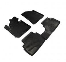 Резиновые коврики в салон Kia Sportage 2010-2015, комплект 4шт