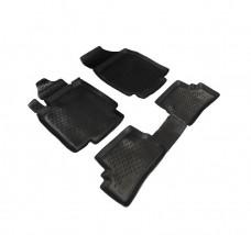 Petroplast Резиновые коврики в салон Nissan Micra 5D 2003-2010, комплект 4шт