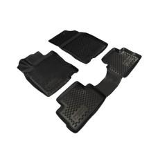 Резиновые коврики в салон Nissan Qashqai 2014 (3D), комплект 4шт