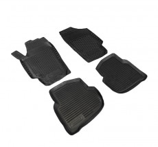 Petroplast Резиновые коврики в салон Volkswagen Polo Sedan, комплект 4шт