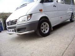 Can Otomotiv Кенгурятник (защита бампера) Mercedes Sprinter (1999-2005) /ус передний изогнуты