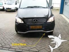 Can Otomotiv Кенгурятник (защита бампера) Mercedes Vito (2003-2010) /ус изогнутый