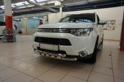 Can Otomotiv Кенгурятник (защита бампера) Mitsubishi Outlander (2012-) /ус двойной SHARK