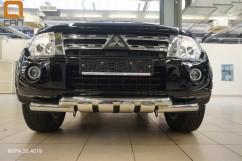 Кенгурятник (защита бампера) Mitsubishi Pajero Wagon (2006-) /ус двойной SHARK