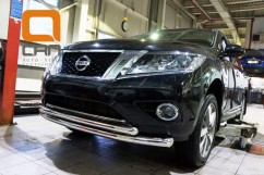 Can Otomotiv Кенгурятник (защита бампера) Nissan Pathfinder (2014-) /ус передний двойной