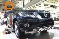 Can Otomotiv Кенгурятник (защита бампера) Nissan Pathfinder (2014-) /ус передний двойной SHARK