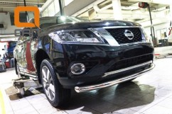 Can Otomotiv Кенгурятник (защита бампера) Nissan Pathfinder (2014-) /ус передний одинарный