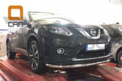 Кенгурятник (защита бампера) Nissan X-trail (2014-) /ус передний одинарный