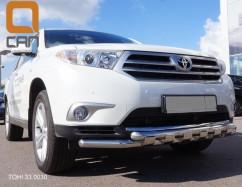 Can Otomotiv Кенгурятник (защита бампера) Toyota Highlander (2008-2014) /ус двойной SHARK