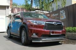 Can Otomotiv Кенгурятник (защита бампера) Toyota Highlander (2014-) /ус двойной