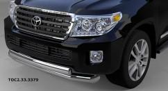 Can Otomotiv Кенгурятник (защита бампера) Toyota Land Cruiser 200 (2007-2012) /ус двойной овал