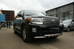 Can Otomotiv Кенгурятник (защита бампера) Toyota Land Cruiser 200 (2007-2012) /ус двойной SHARK