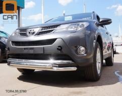 Кенгурятник (защита бампера) Toyota Rav4 (2013-) /ус двойной