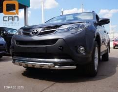 Кенгурятник (защита бампера) Toyota Rav4 (2013-) /ус двойной SHARK