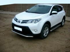Кенгурятник (защита бампера) Toyota Rav4 (2013-) /ус одинарный