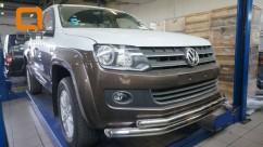 Кенгурятник (защита бампера) Volkswagen Amarok (2010-) /ус двойной
