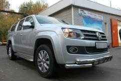 Can Otomotiv Кенгурятник (защита бампера) Volkswagen Amarok (2010-) /ус двойной SHARK