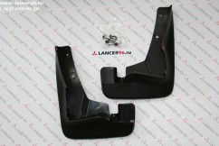 Оригинал Брызговики оригинальные Mitsubishi Outlander XL (широкий порог) 2007-2012,  4шт