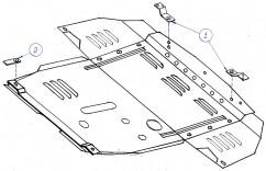 Защита двигателя, коробки передач, радиатора Alfa Romeo 156